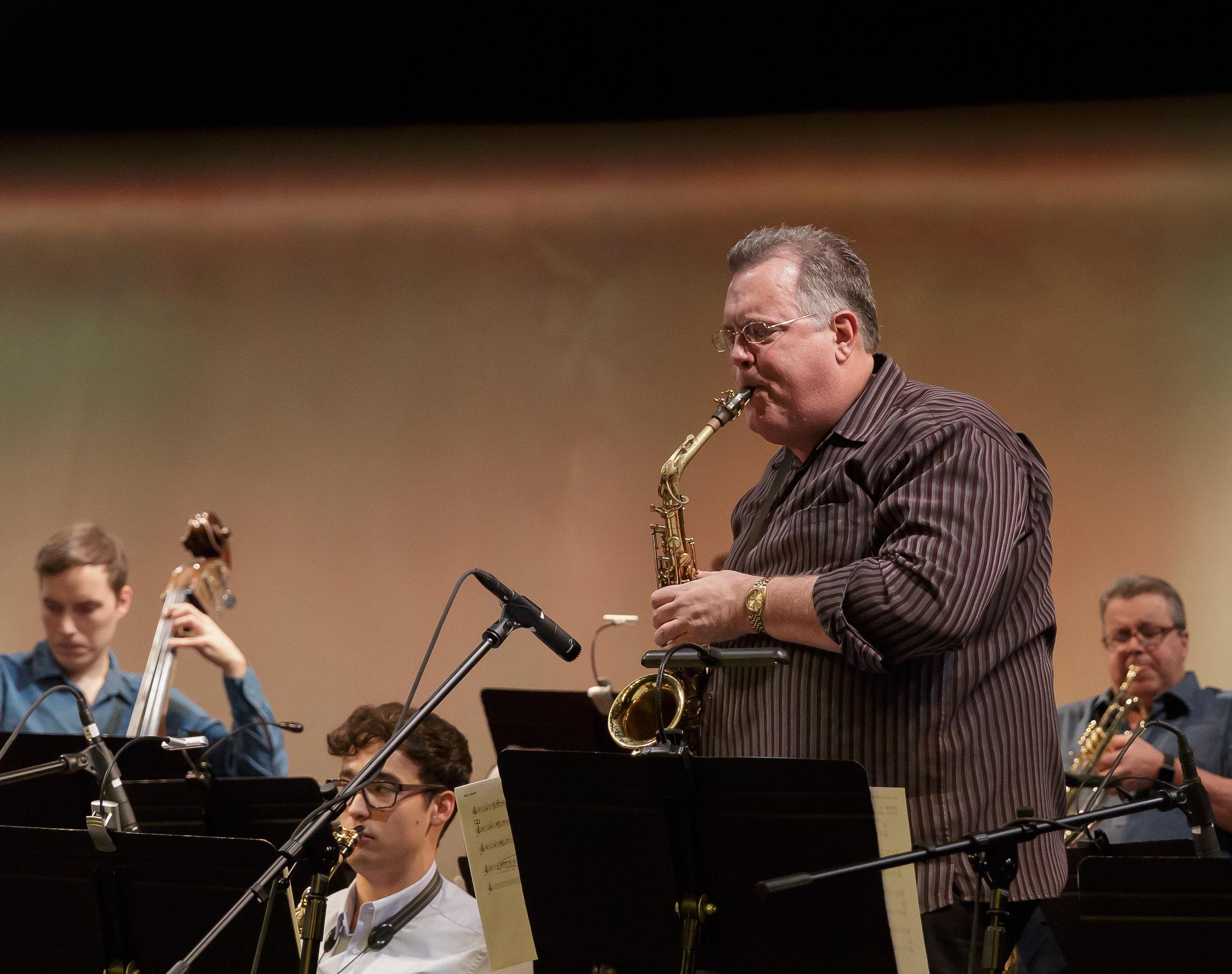 Jim Honeyman, alto sax