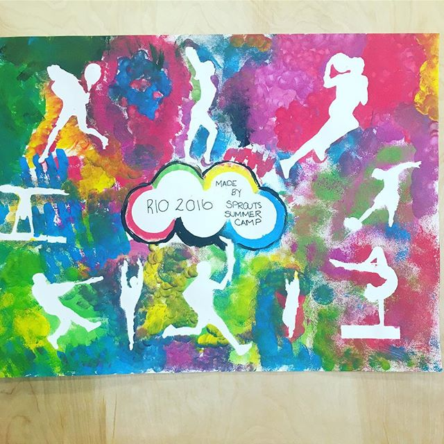 Olympic week at camp! Great job kids. #kidsart #kidscamp #olympics2016