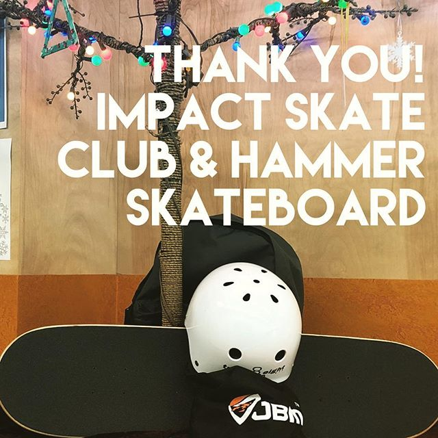 Big thanks to #impactskateclub & #hammerskateboard  for helping us make a Christmas wish come true for child in a shelter over the holidays.
