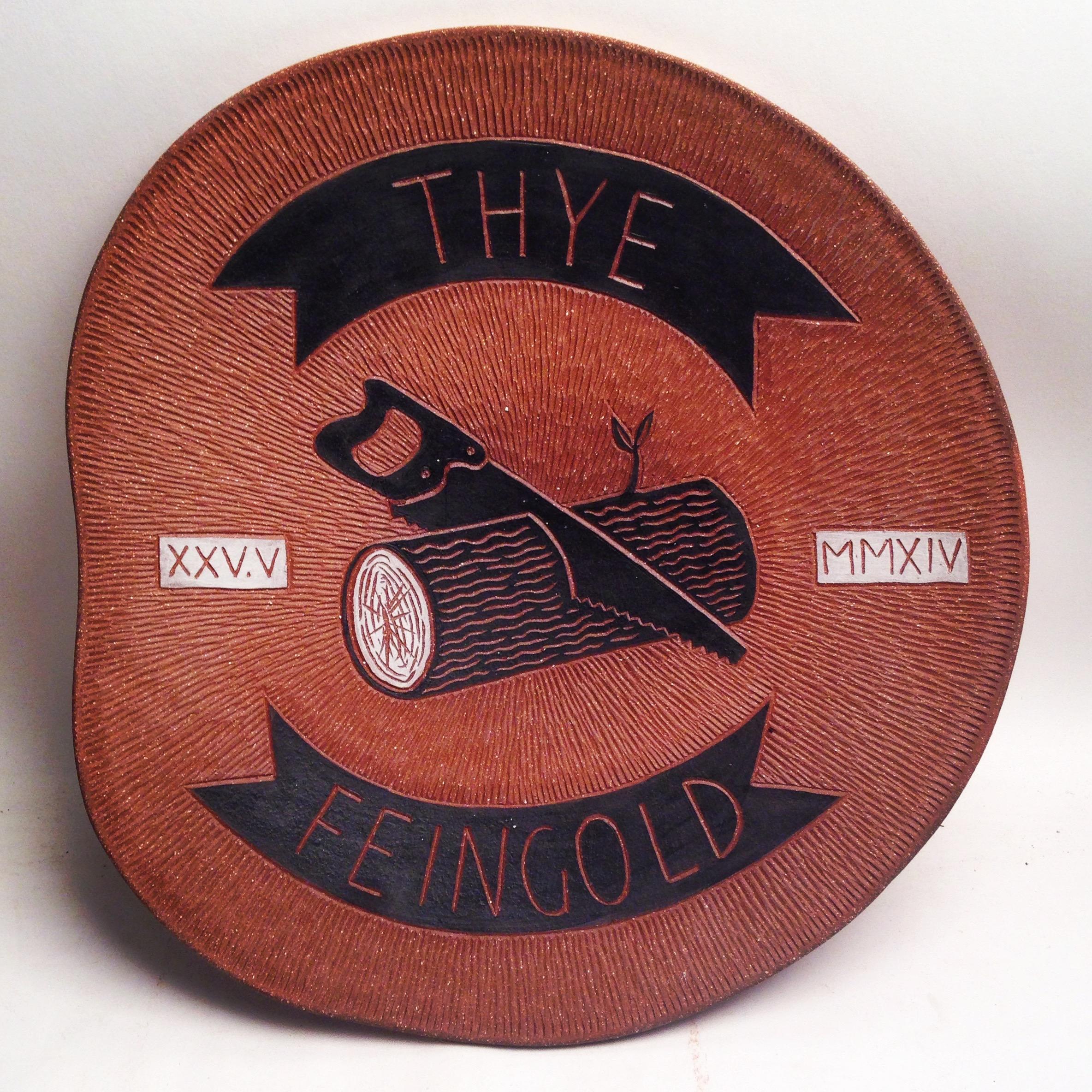 Thye Feingold wedding platter, 2014