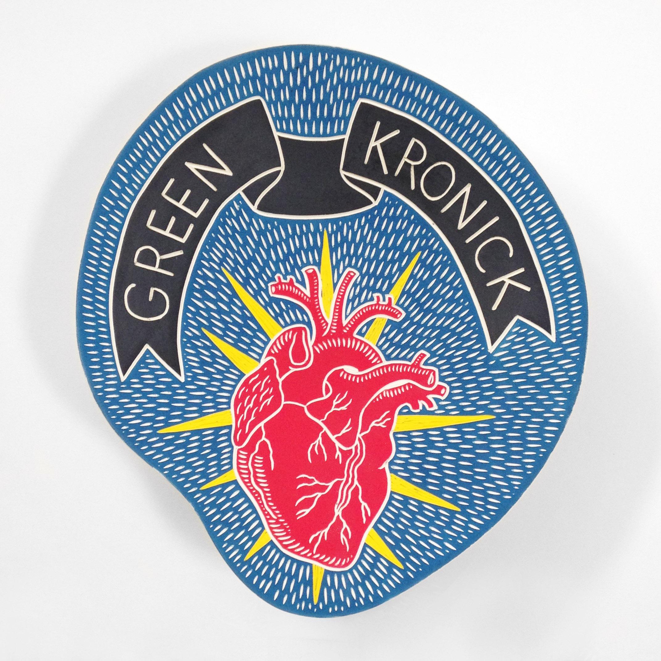 Green Kronick wedding platter, 2016