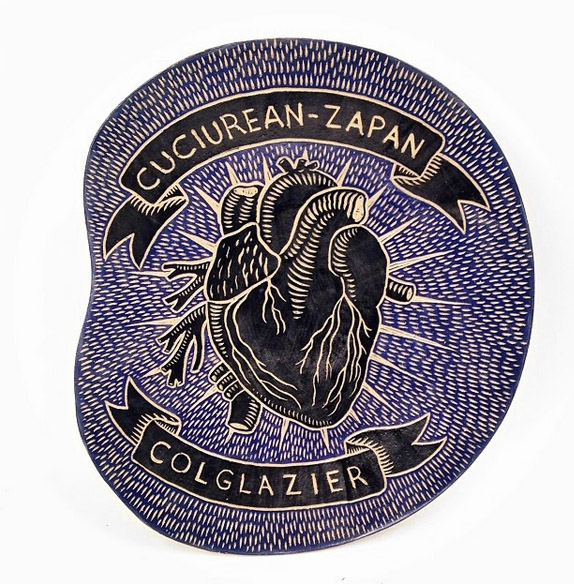 Cuciurean-Zapan Colglazier wedding platter, 2014