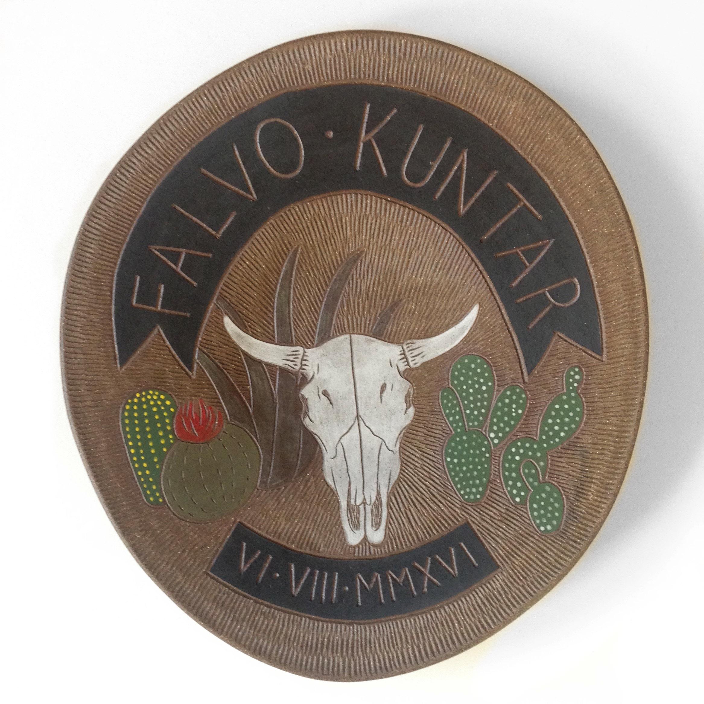 Falvo Kuntar wedding platter, 2016