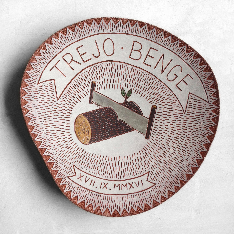 Trejo Benge wedding platter, 2016