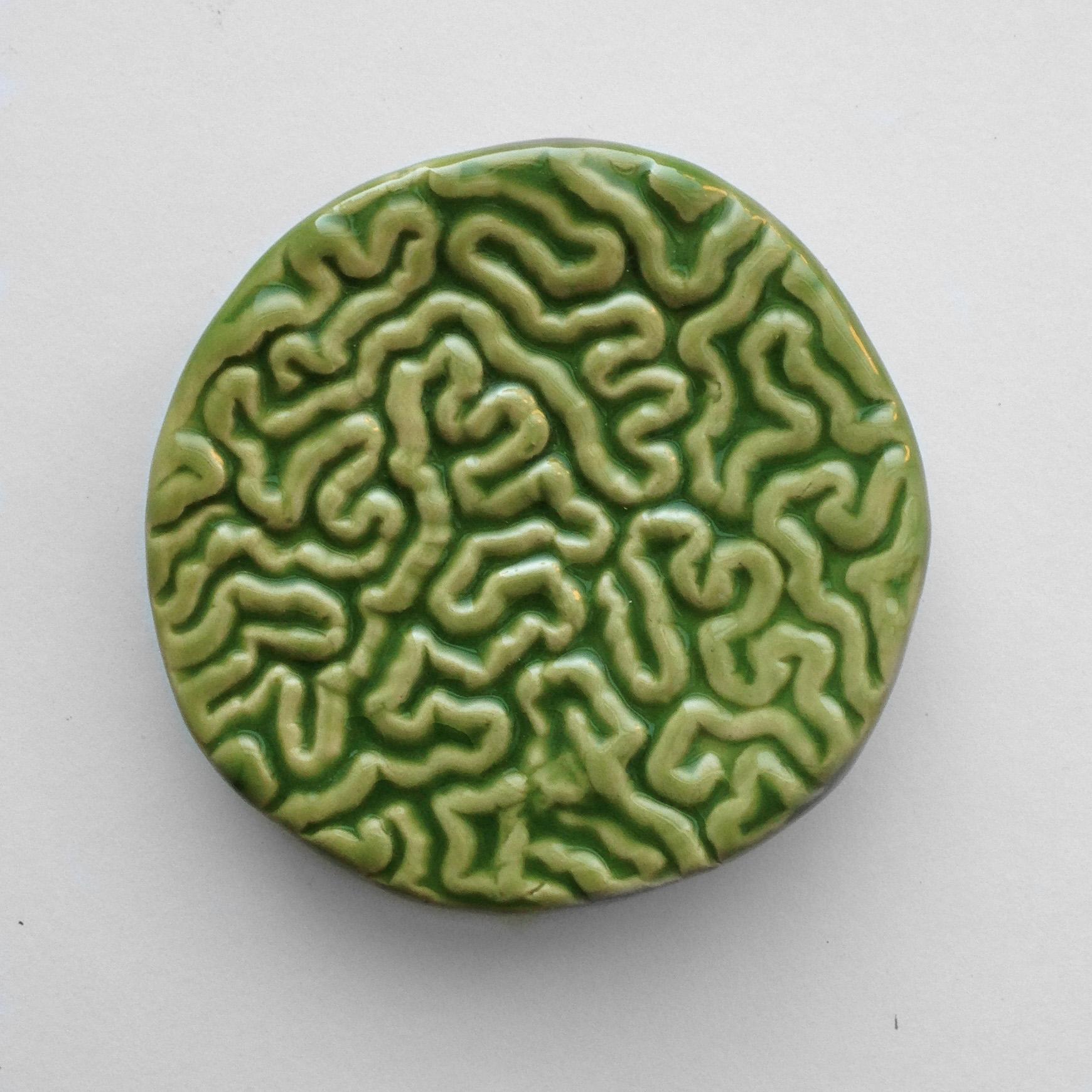 Guts soap dish, green