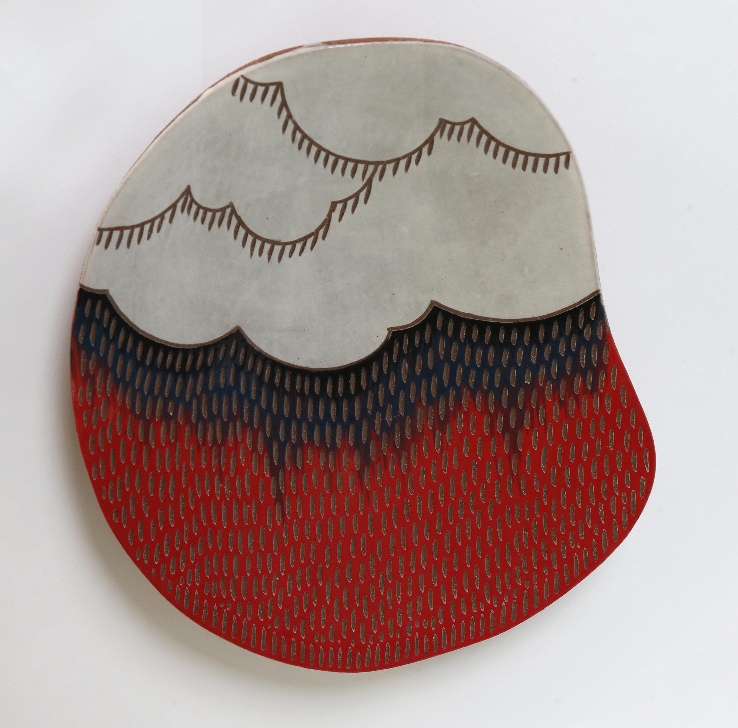 Red cloud platter