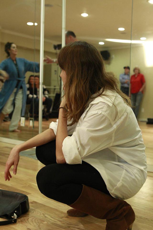 Choreographer on set  Photo Credit: Dan Warner