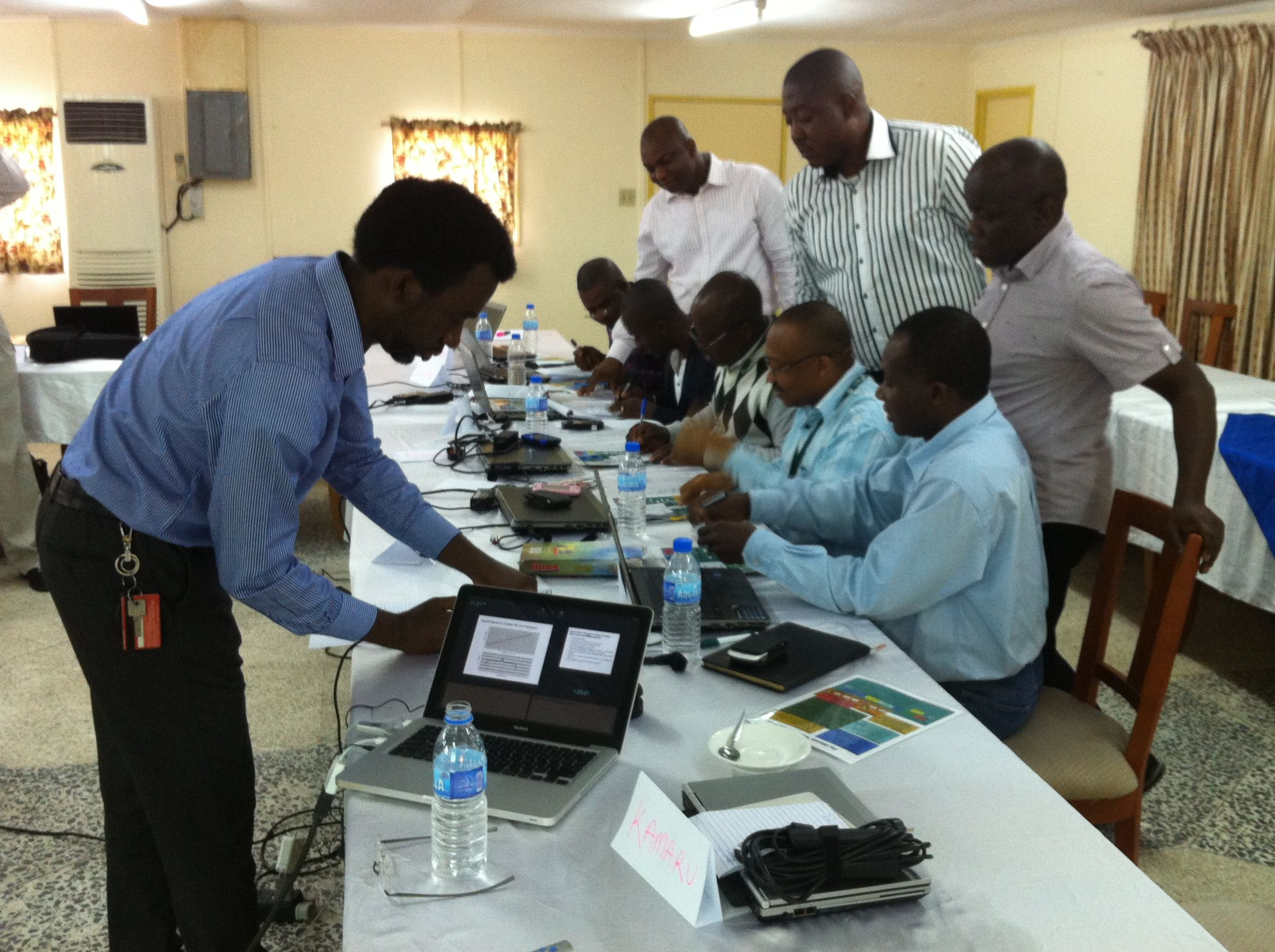 Executives from Notore, a large Nigerian chemical fertilizer manufacturer, use a TOC simulator to identify plant bottlenecks and to maximize throughput.