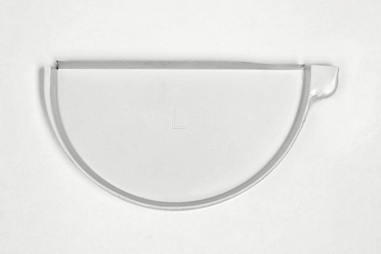 """6"""" Aluminum Half-Round End Cap— Left"""