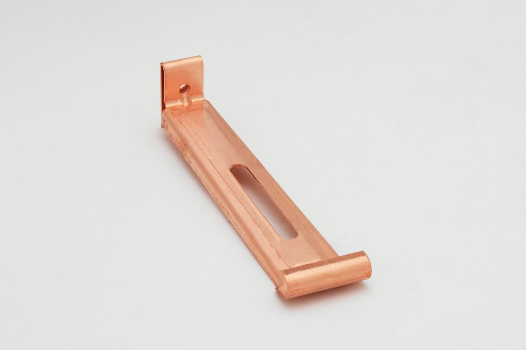 """6"""" Copper Half-Round #10 Hanger— Internal"""
