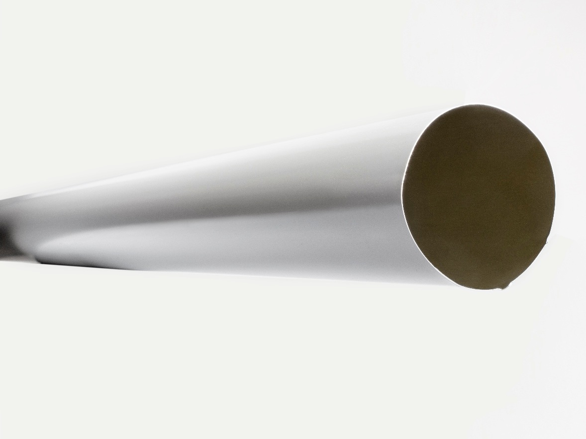 """4"""" Smooth Round Aluminum Downspout   10 ft lengths, 30 colors"""