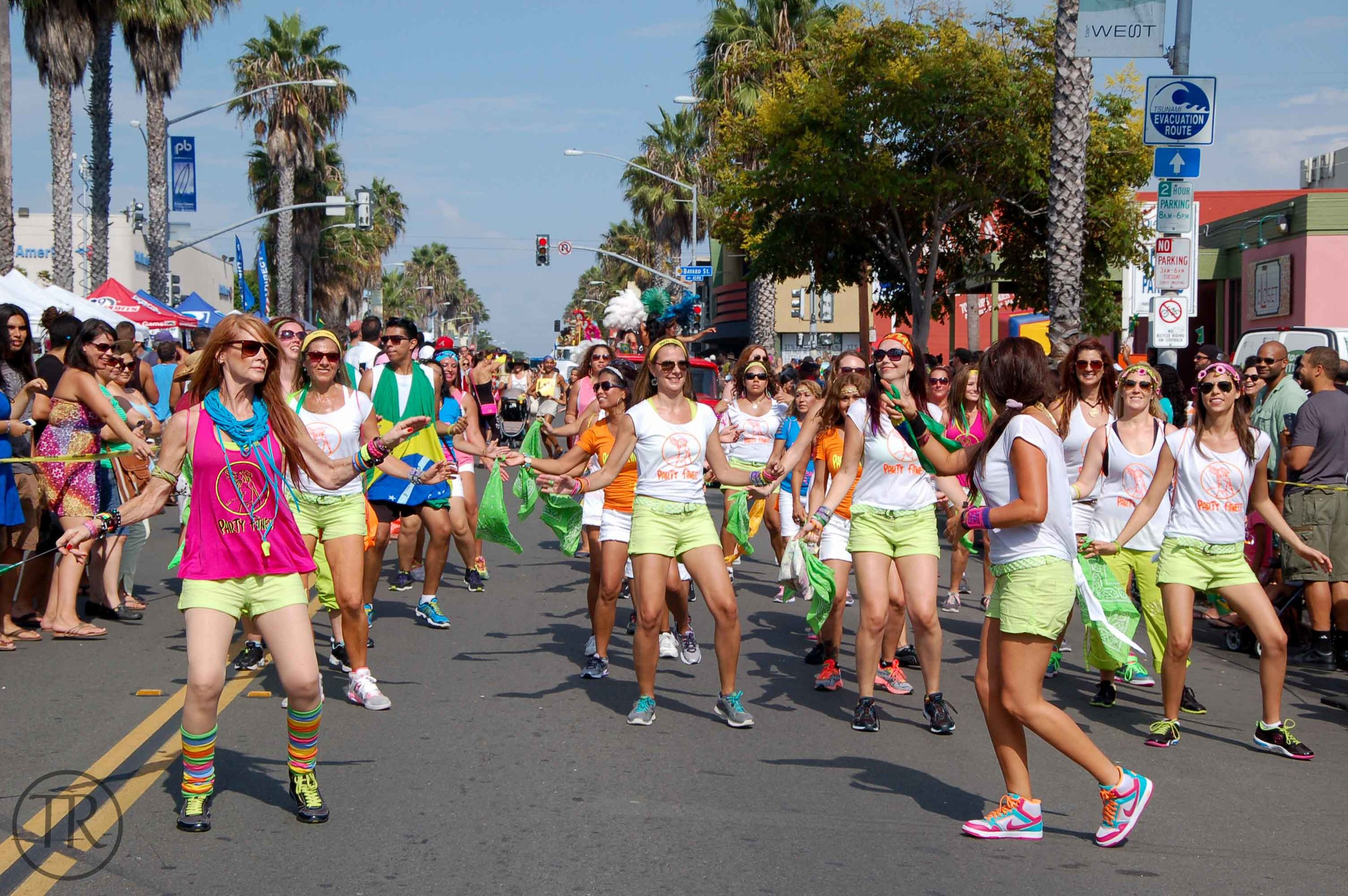 Party Fitness at The Brasilian Day San Diego Parade in Pacific Beach