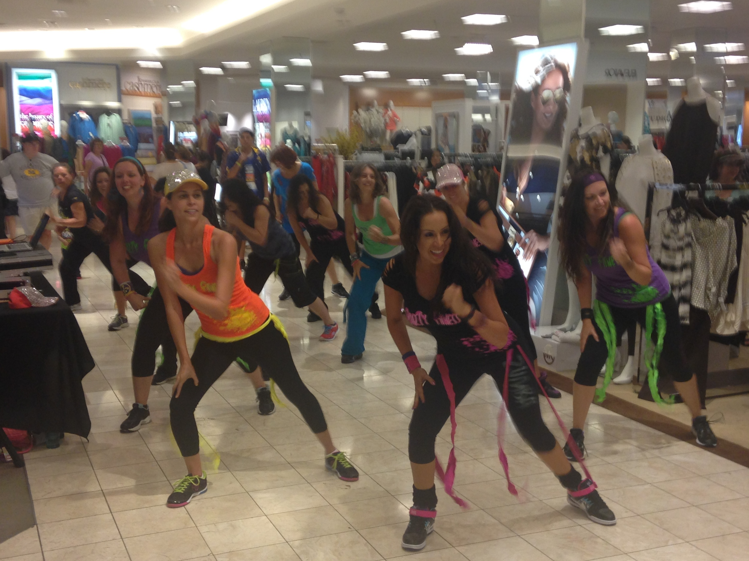 Party Fitness Performing at Macy's Mission Valley Mall