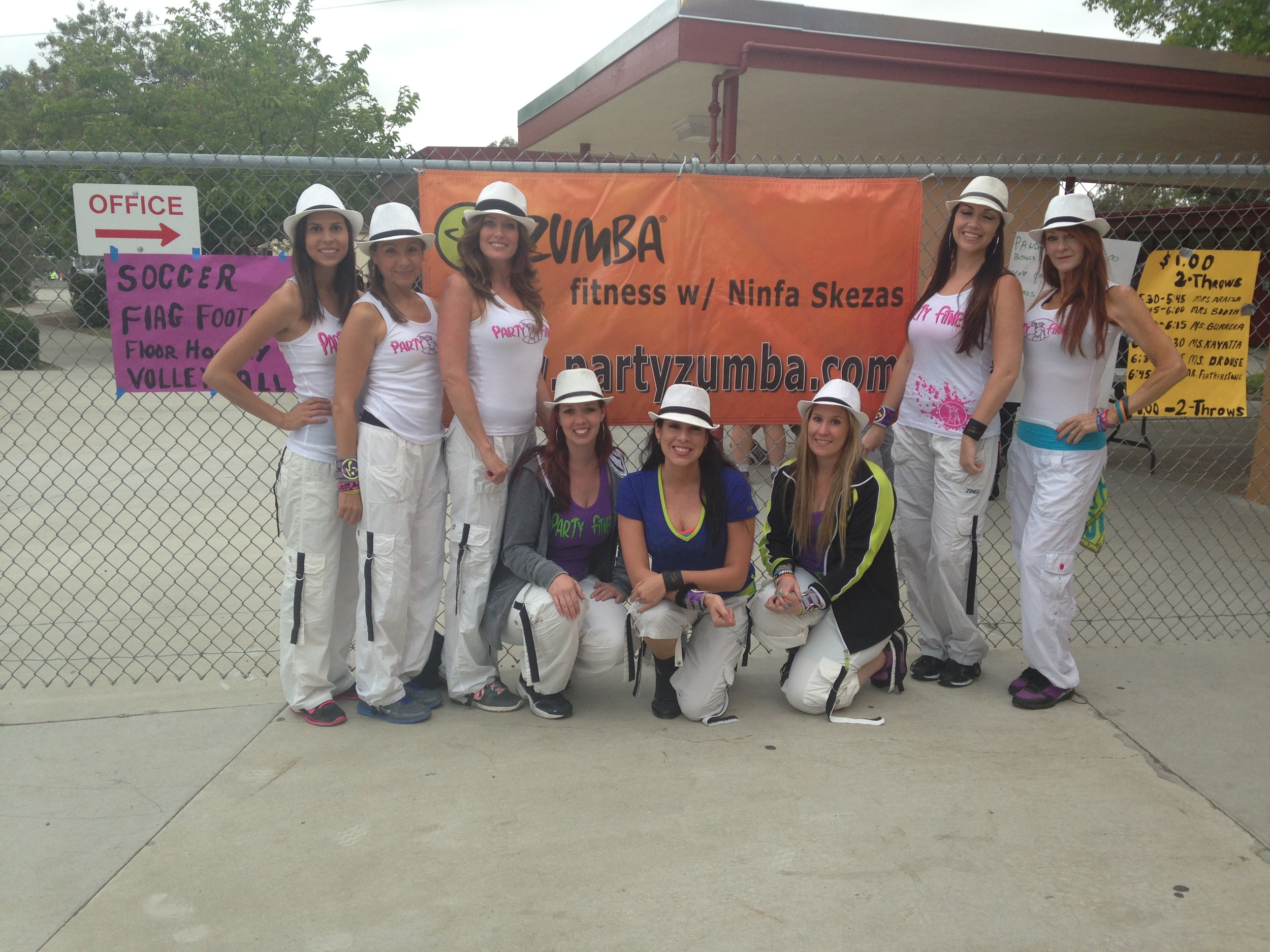 Party Fitness at San Diego School Foundraiser
