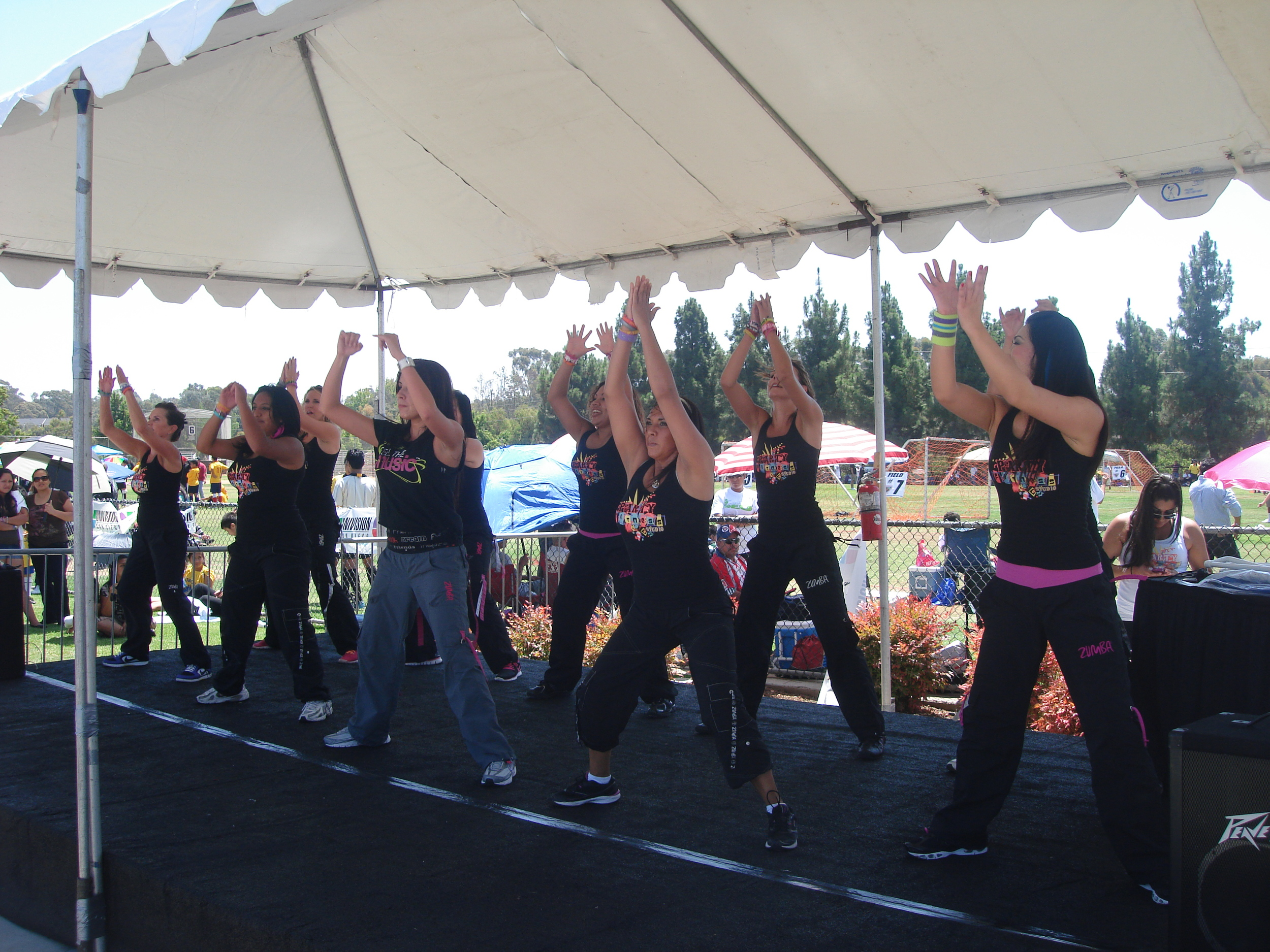 Party Fitness Performing at Copa Univision Spanish TV