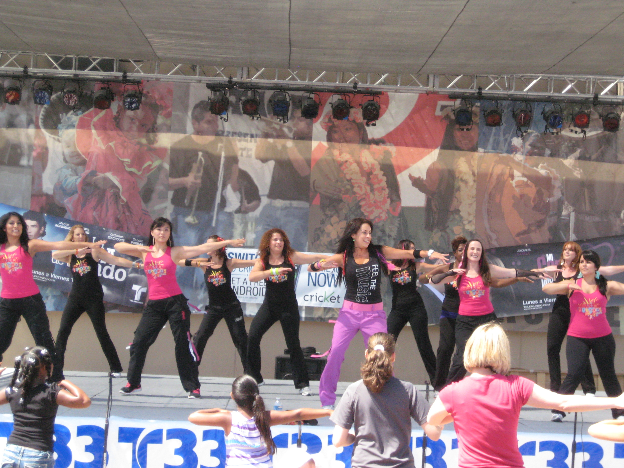 Party Fitness Performing at Del Mar Fair 2010