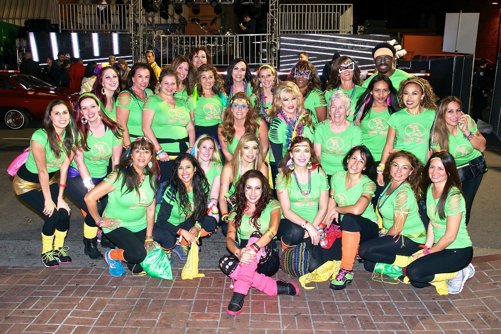 Party Fitness at Mardi Gras Downtown San Diego