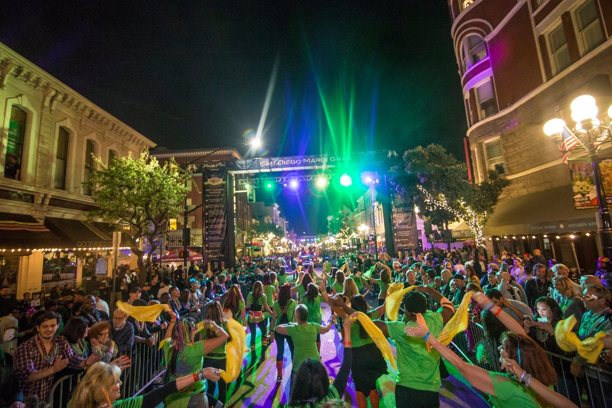 Party Fitness at Mardi Gras Parade (Downtown San Diego)