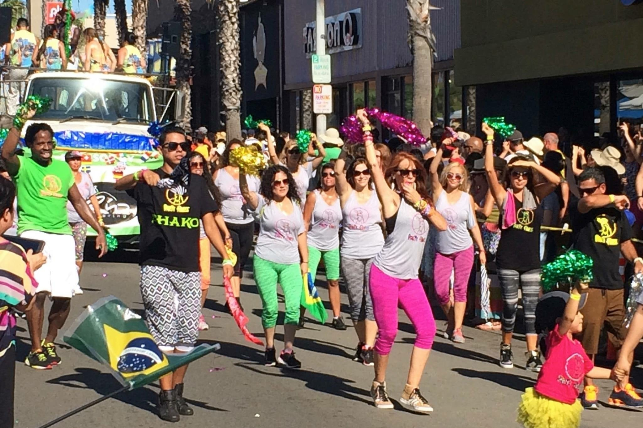Party Fitness at Pacific Beach Parade