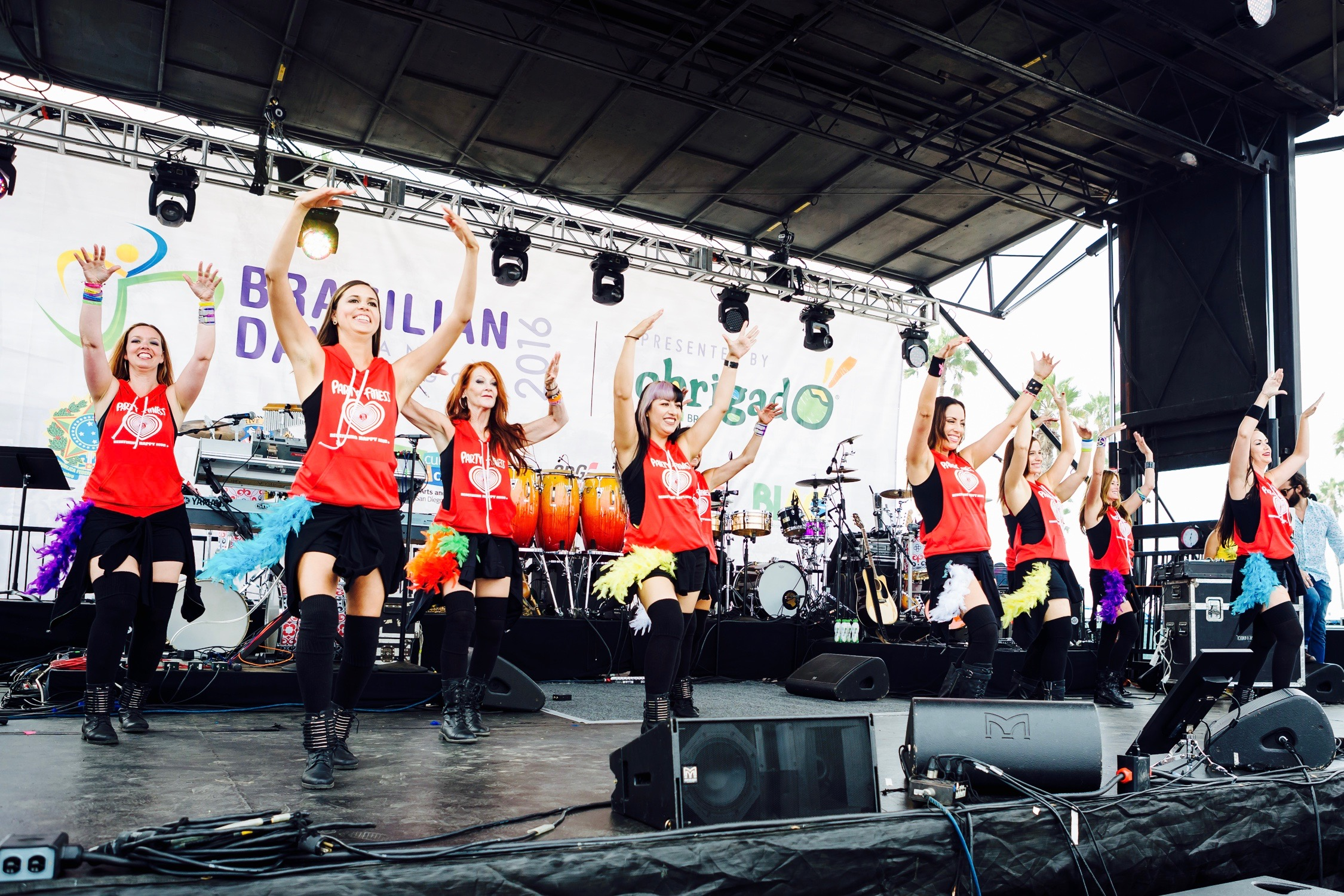 Party Fitness Performing at The Brazilian Day San Diego 2016!