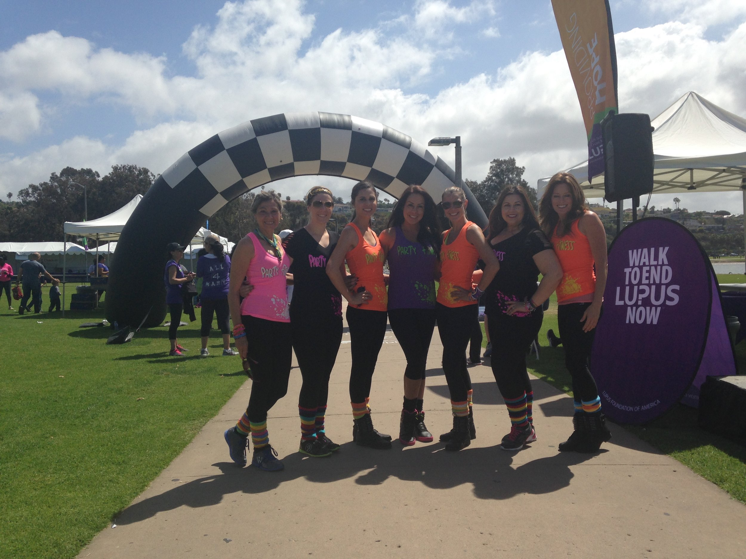 Party Fitness at The Walk for Lupus