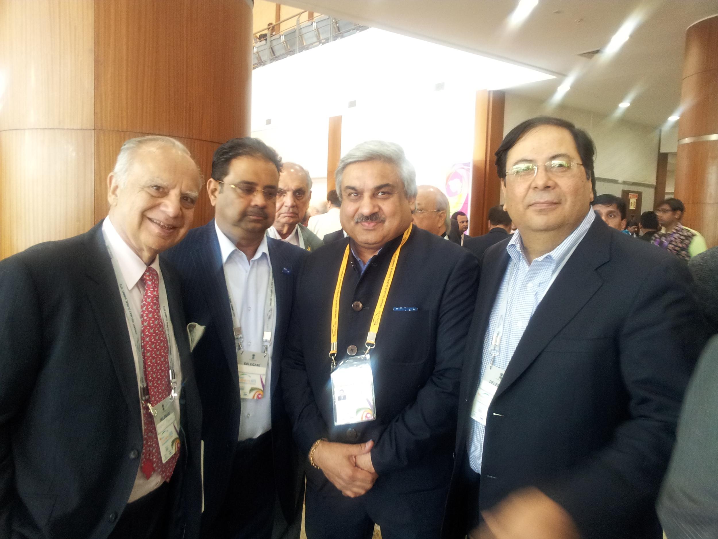 In Photos (Right to Left):Suresh Nichani, Vice Chairman of RootCorp with Ambassador Wadhwa, Mr. Danny Gaekwad & Mr. Sunder Advani.