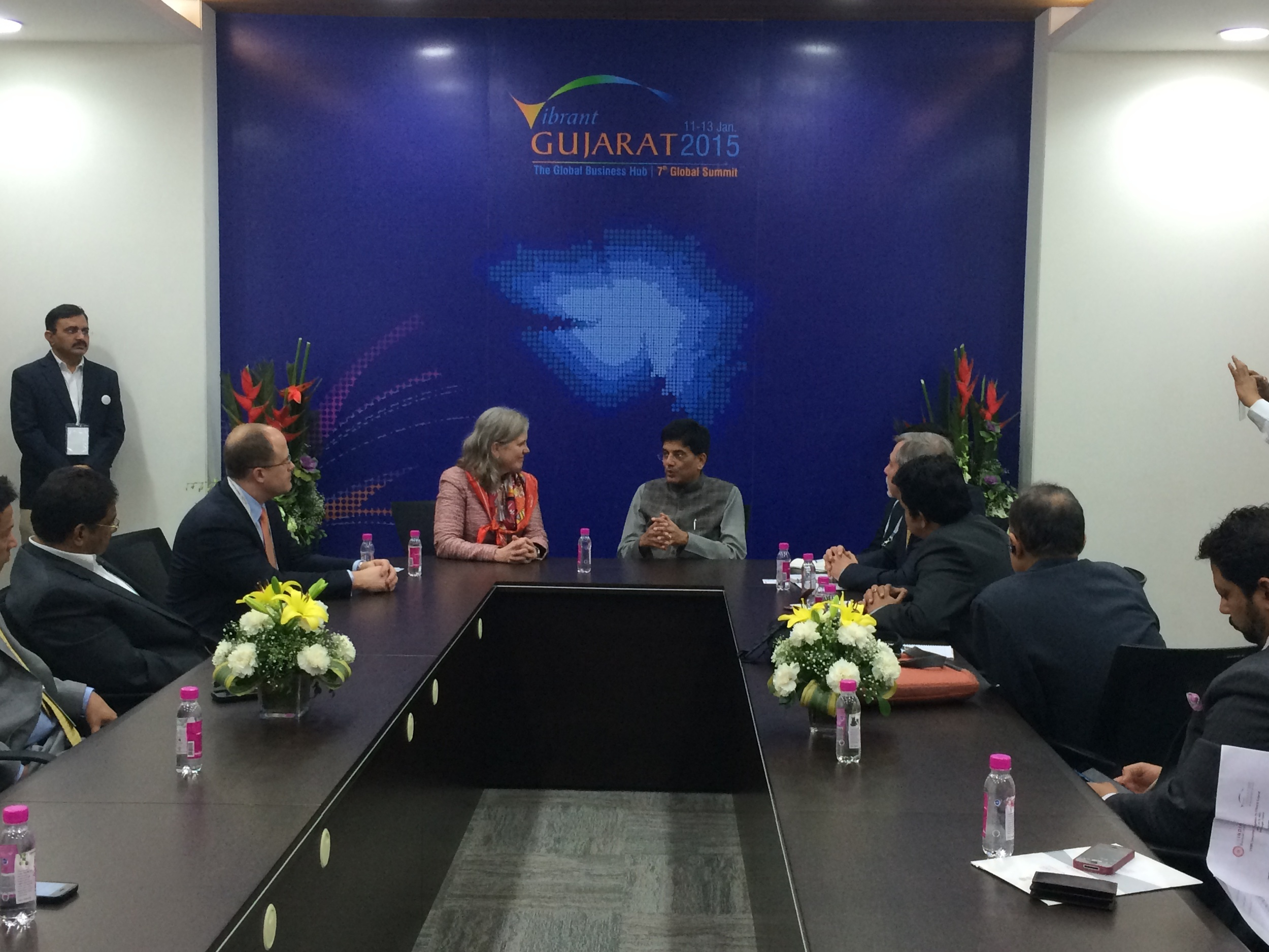 The US India Business Council Delegation with Mr. Piyush Goyal, Honorable Minister of Renewal Energy, Government of India.