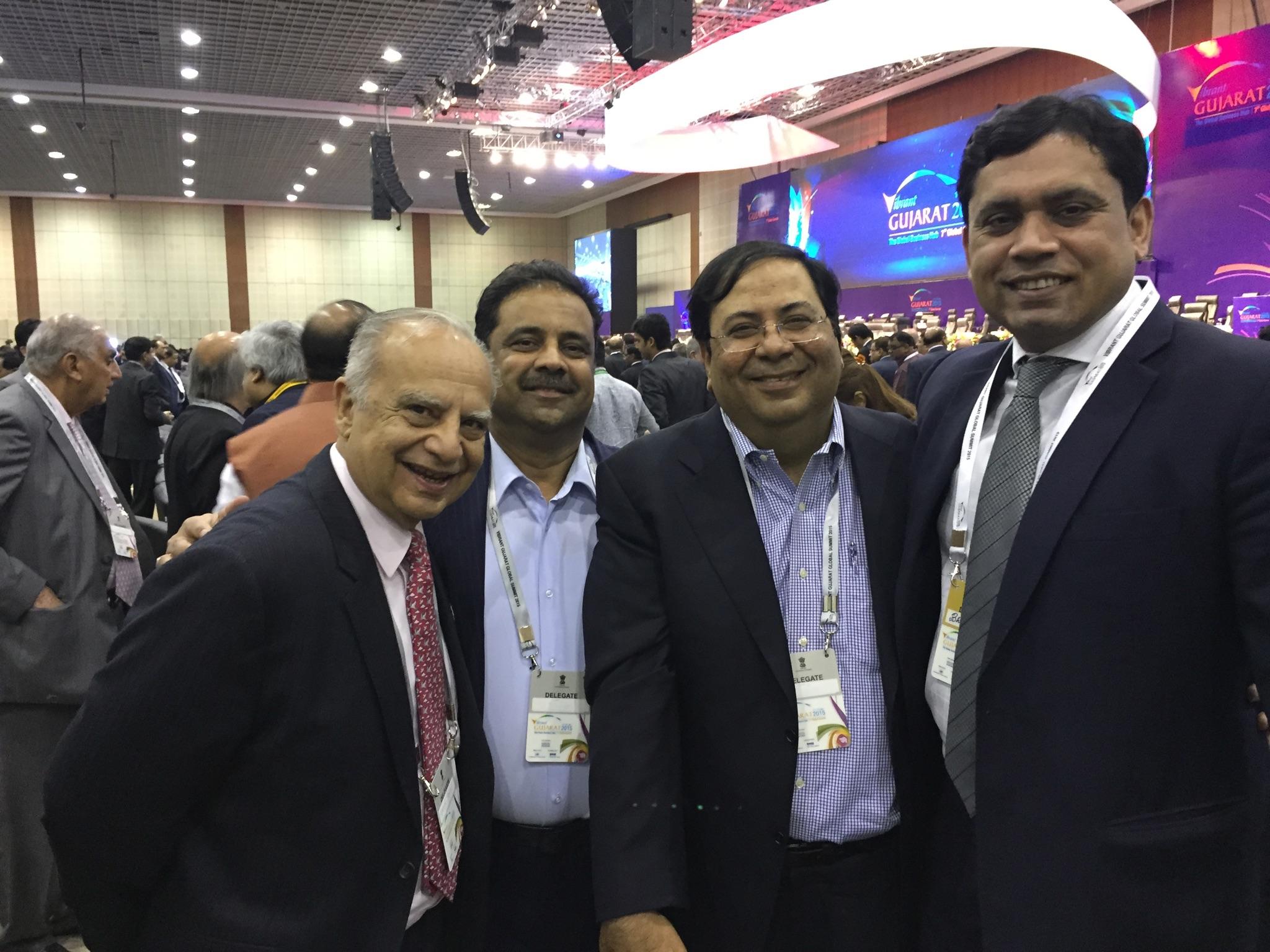 In Photos (Rightto Left): Mr.Bharat Kaushal, Managing Director & CEO at Sumitomo Mitsui Banking Corporation withSuresh Nichani, Vice Chairman of RootCorp, Mr.Danny Gaekwad & Mr.Sunder Advani.