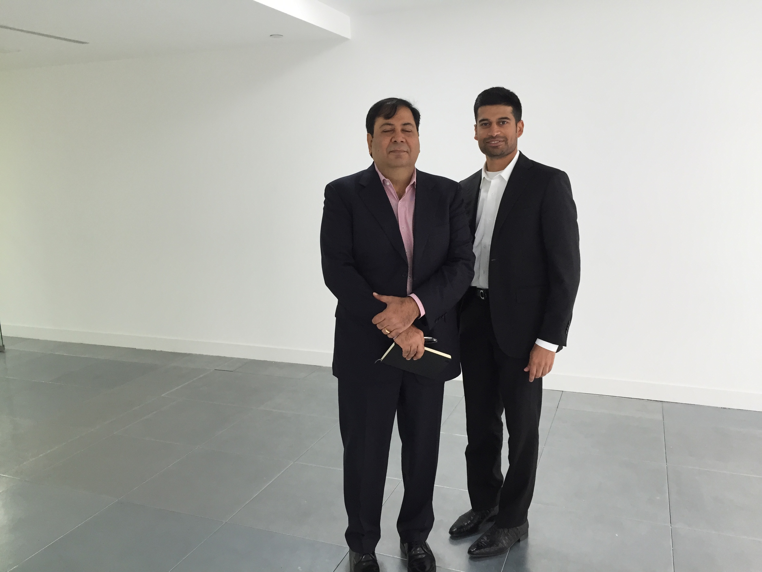(Left to Right): Mr. Suresh Nichani and Mr. Ravi PNC Menon