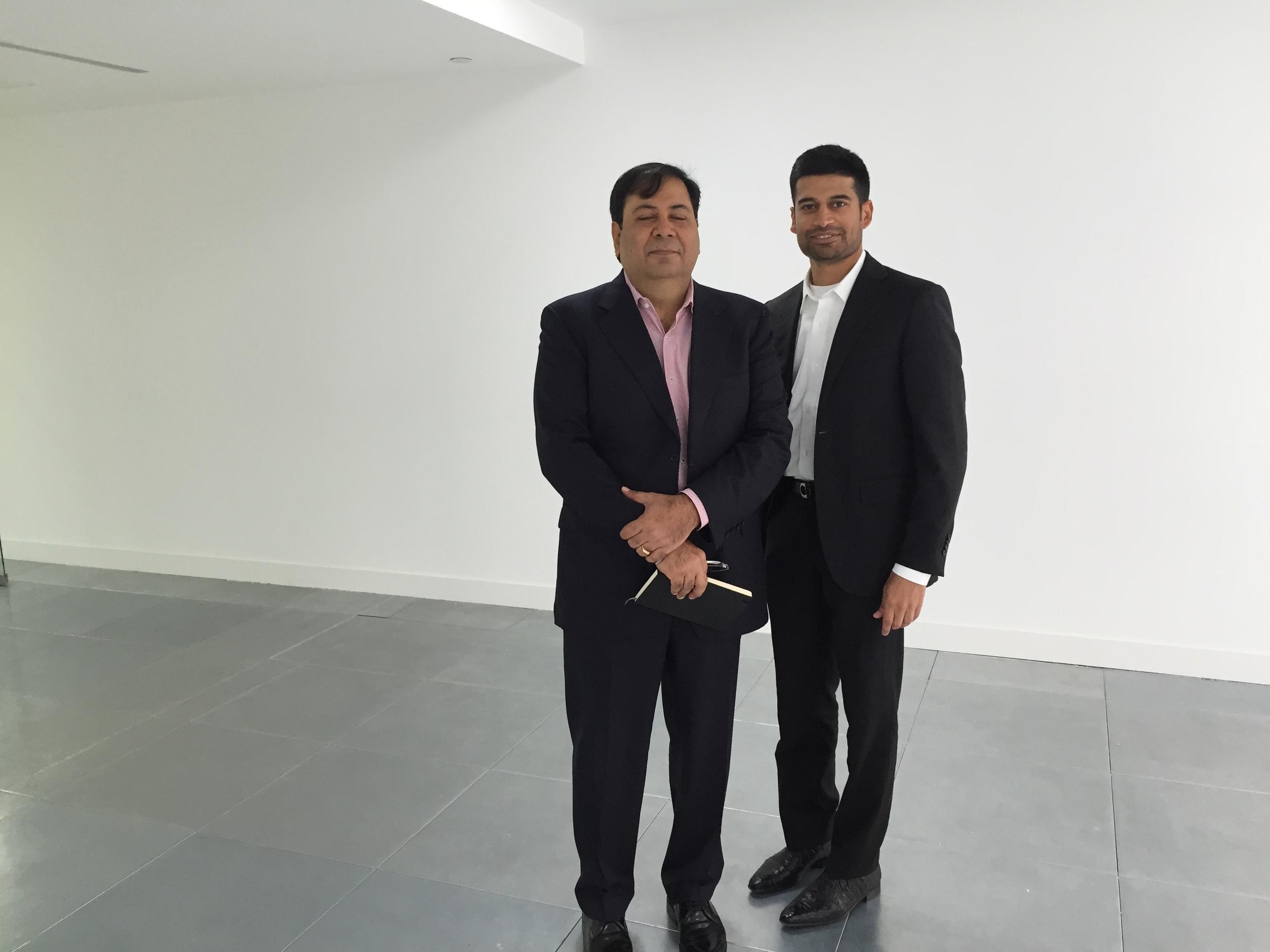 (Left to Right): Mr. Suresh Nichani andMr. Ravi PNC Menon