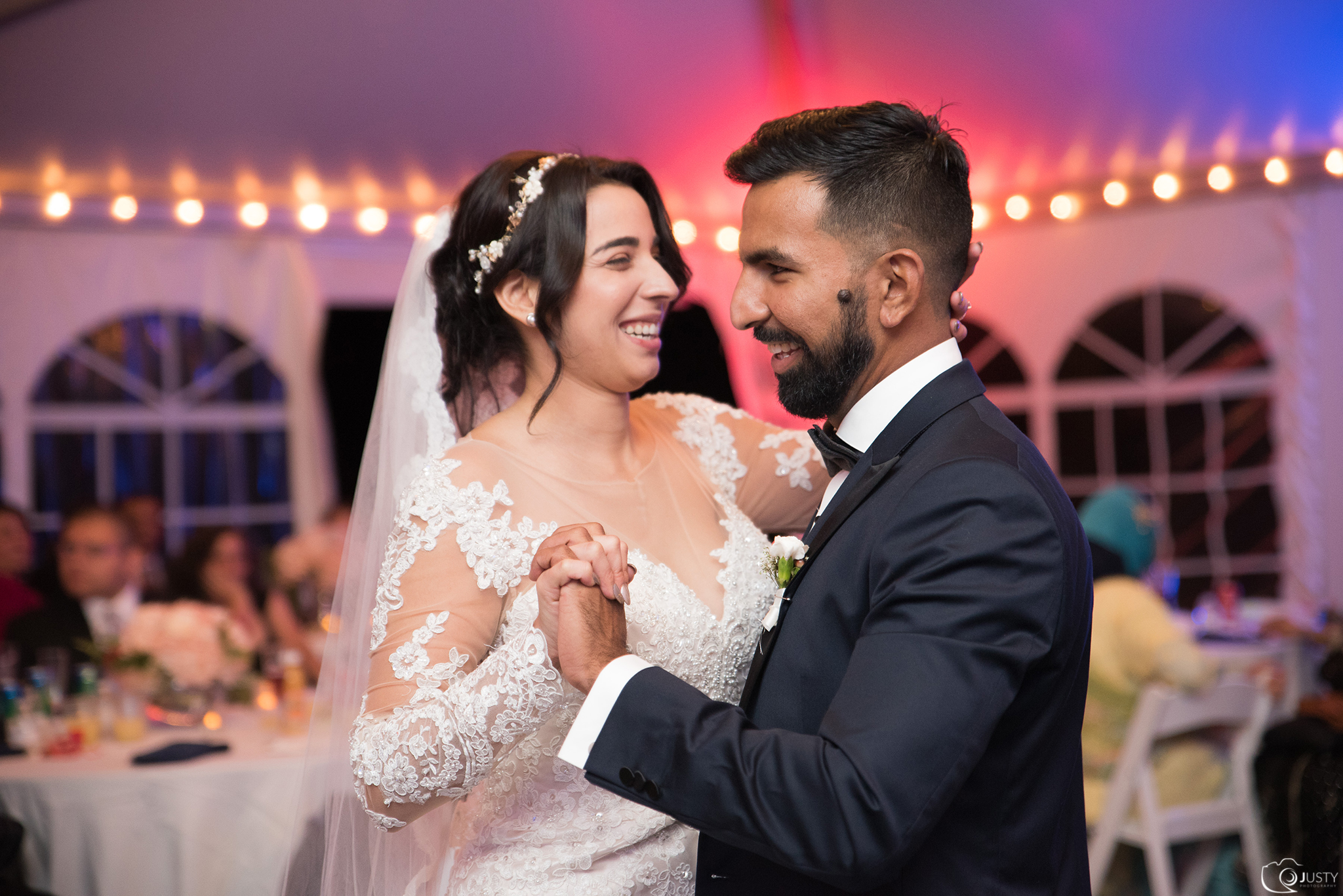 Bride and Groom first dance photos - Strong mansion wedding photos