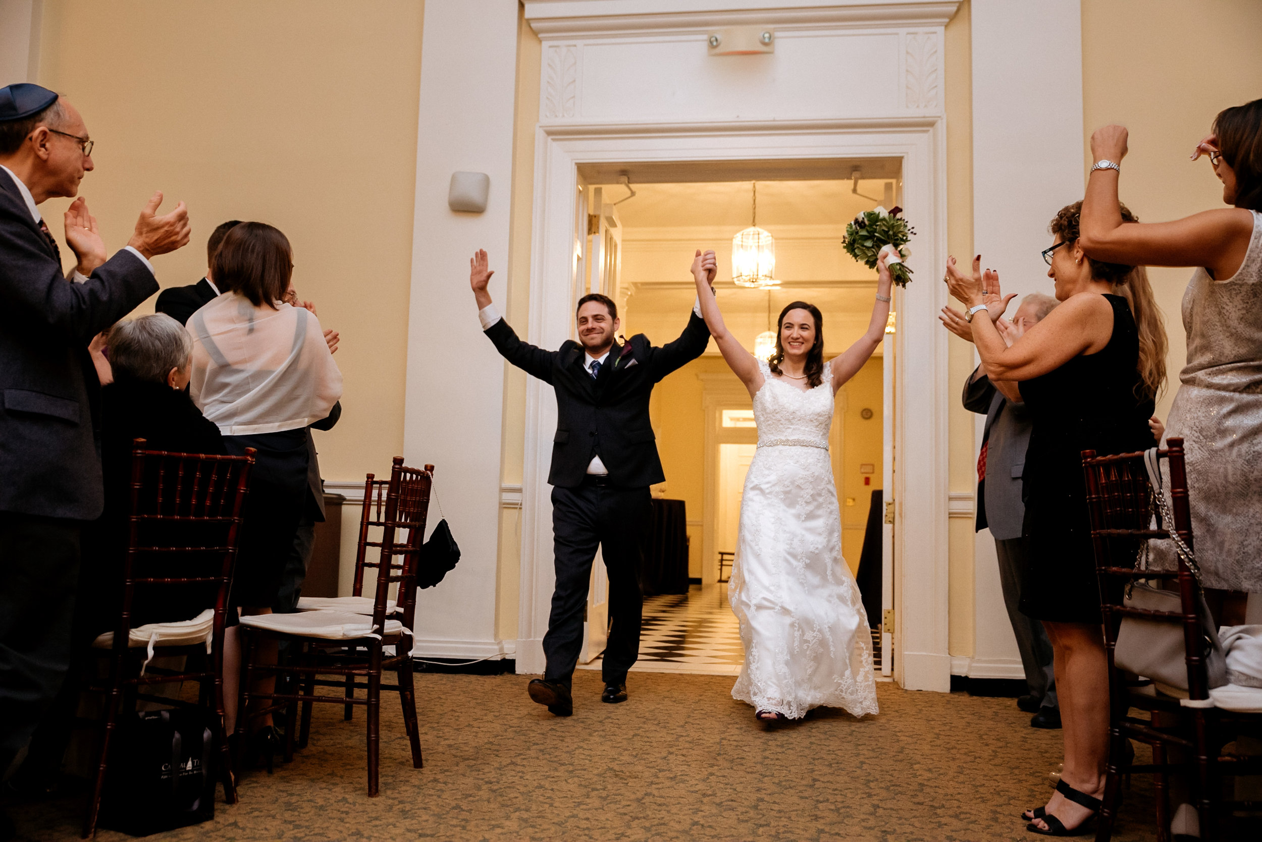 McLean Gardens Ballroom Wedding- Bride and groom entrance