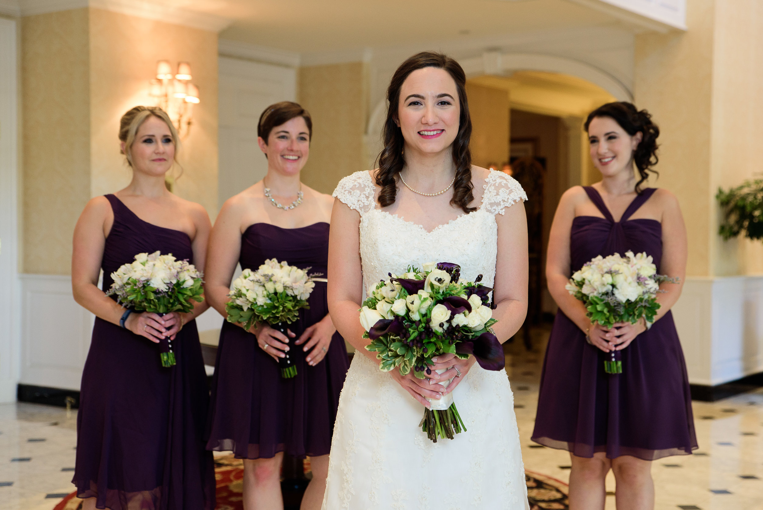 Bride and bridesmaids - DC wedding