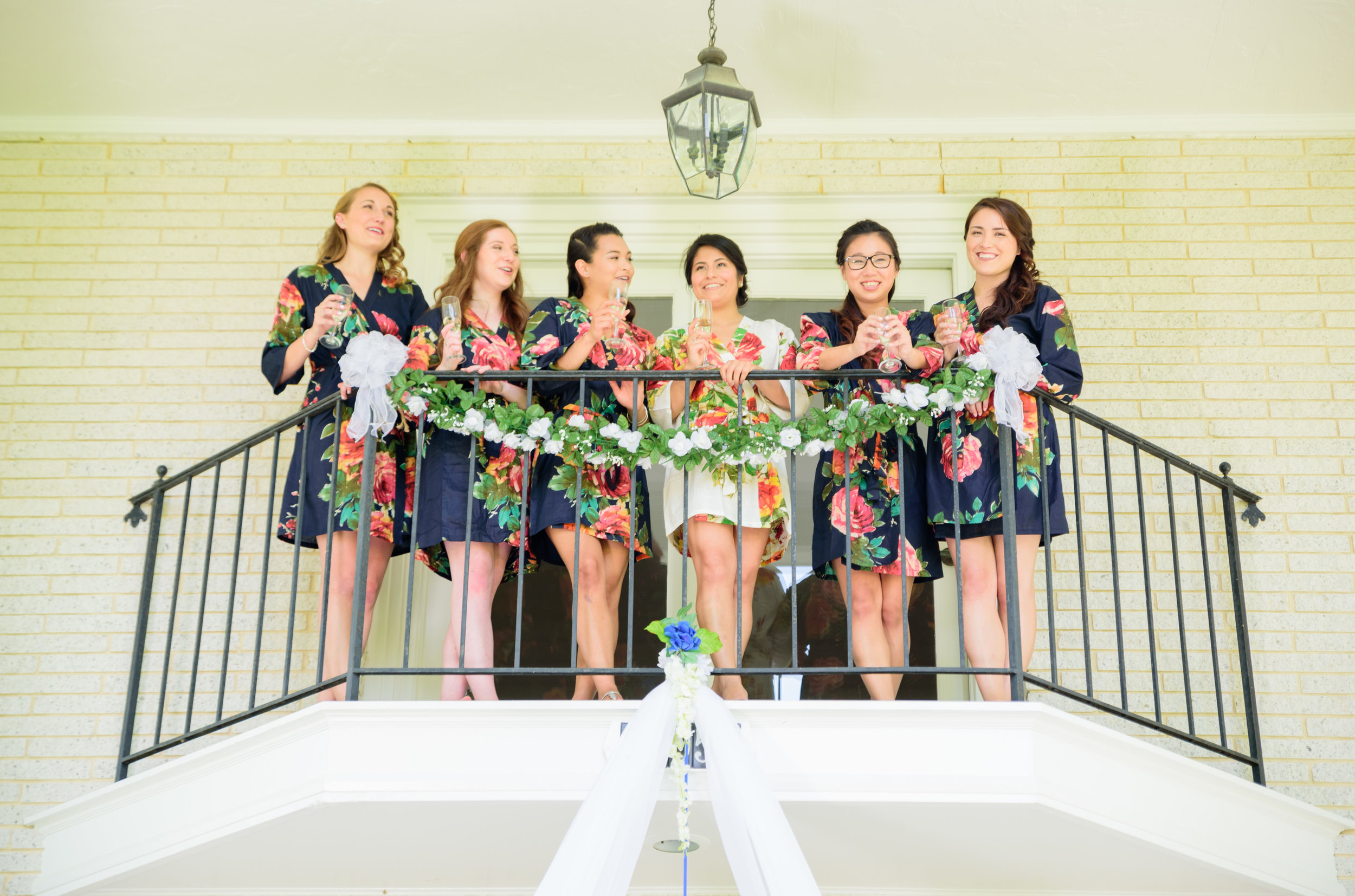 Bride and Bridesmaids at Mary's Hope on Church Cove wedding