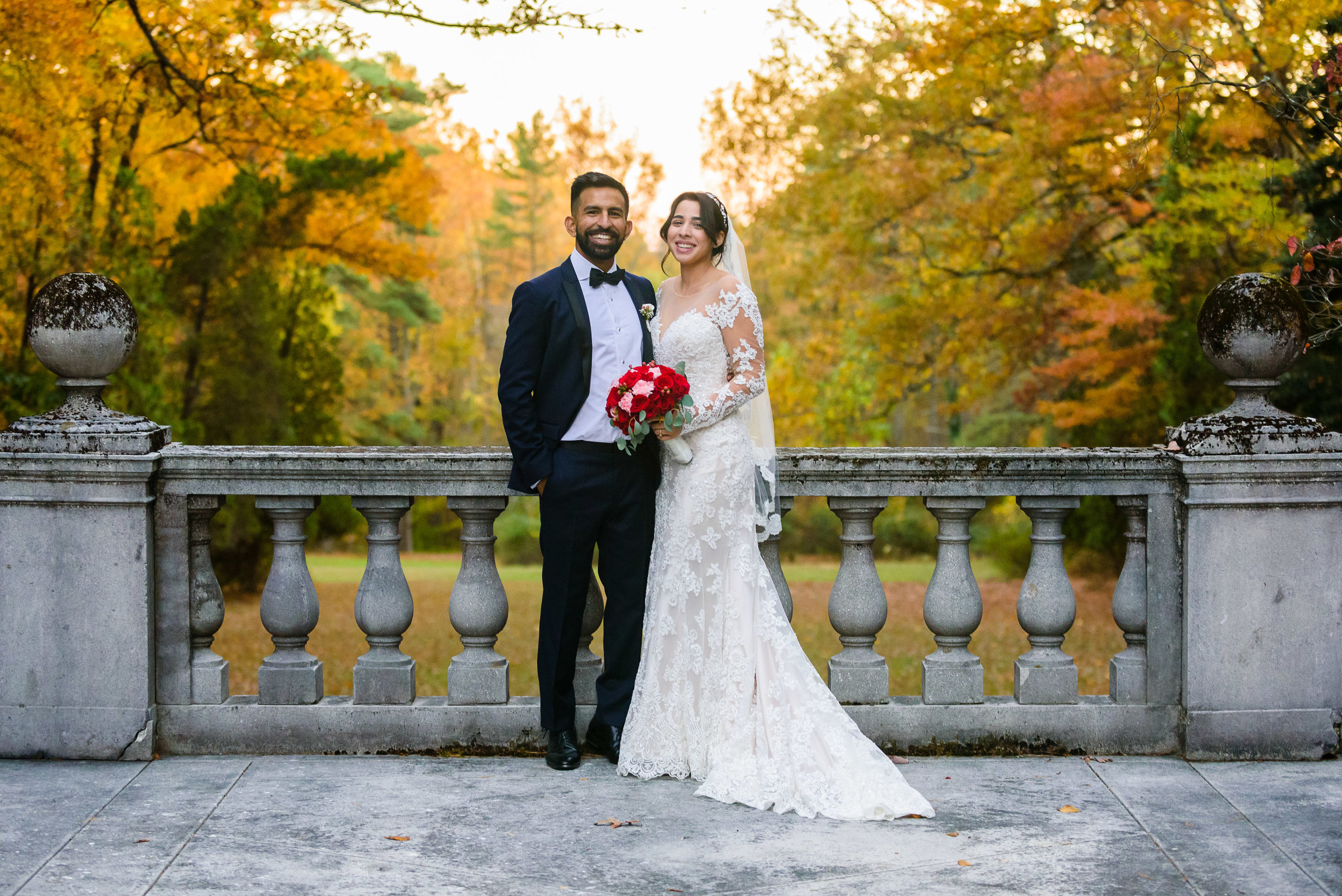 Beautiful Fall wedding -Strong Mansion Wedding photos