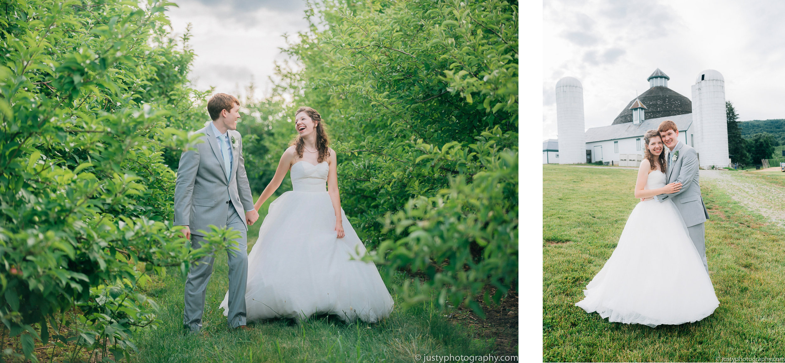 Historic Round Barn wedding photos - PA