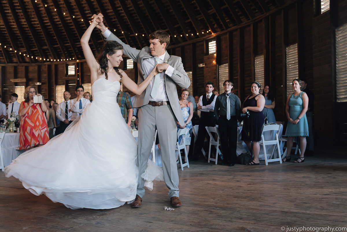 Historic Round Barn wedding photos - Romantic First Dance