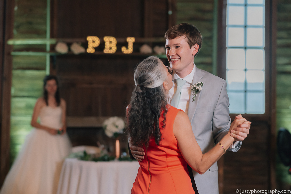 Historic Round Barn wedding photos - Mother and Son Dance