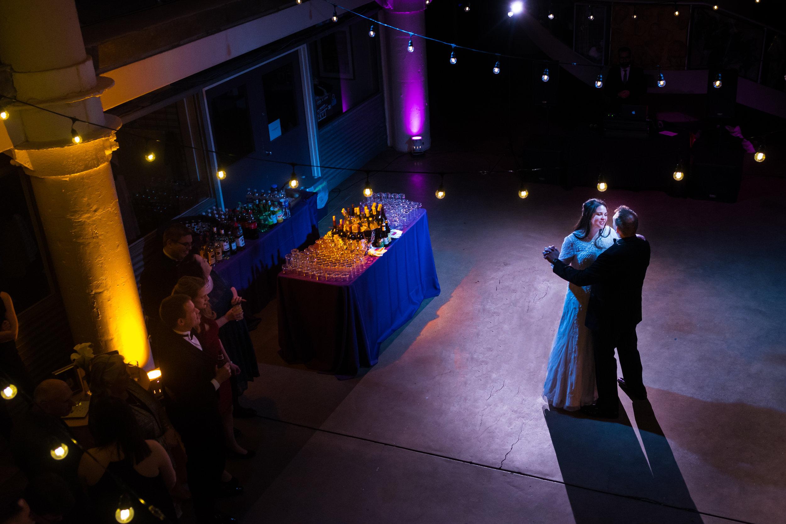 Bride and groom - First dance -Torpedo Factory wedding