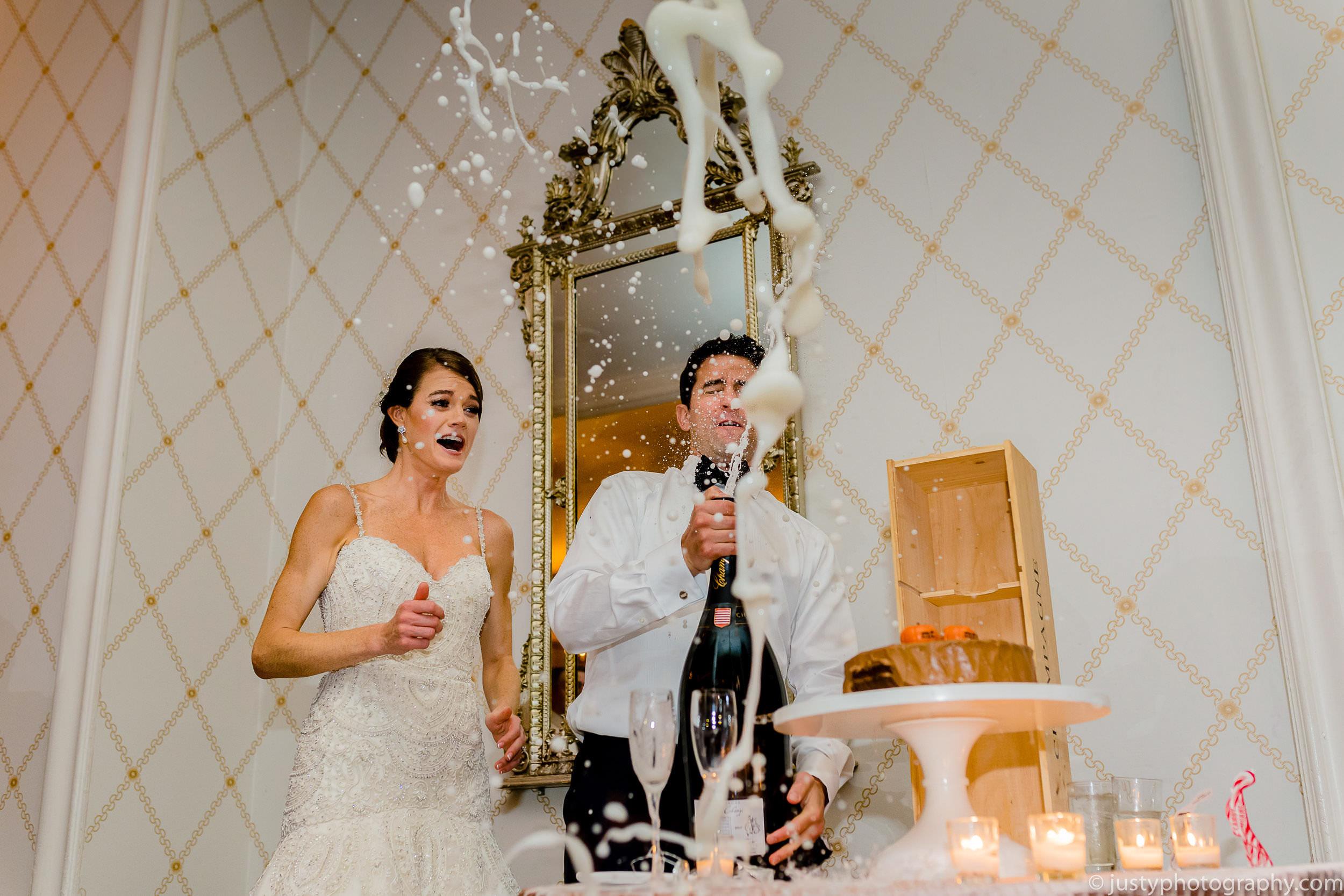 Omni Shoreham wedding photos DC Champagne pop