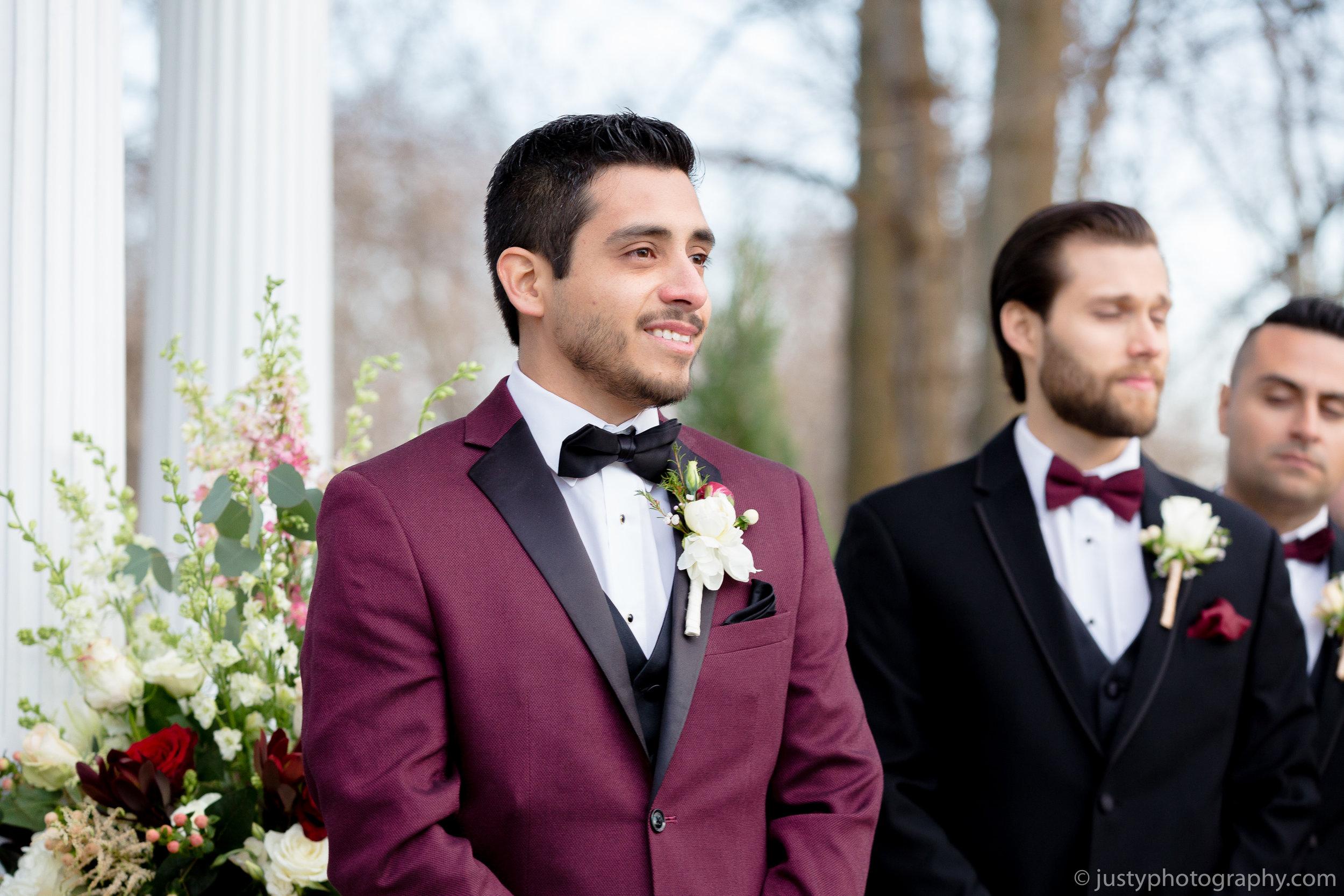Ceresville Mansion Wedding Photos- Groom at Altar.jpg