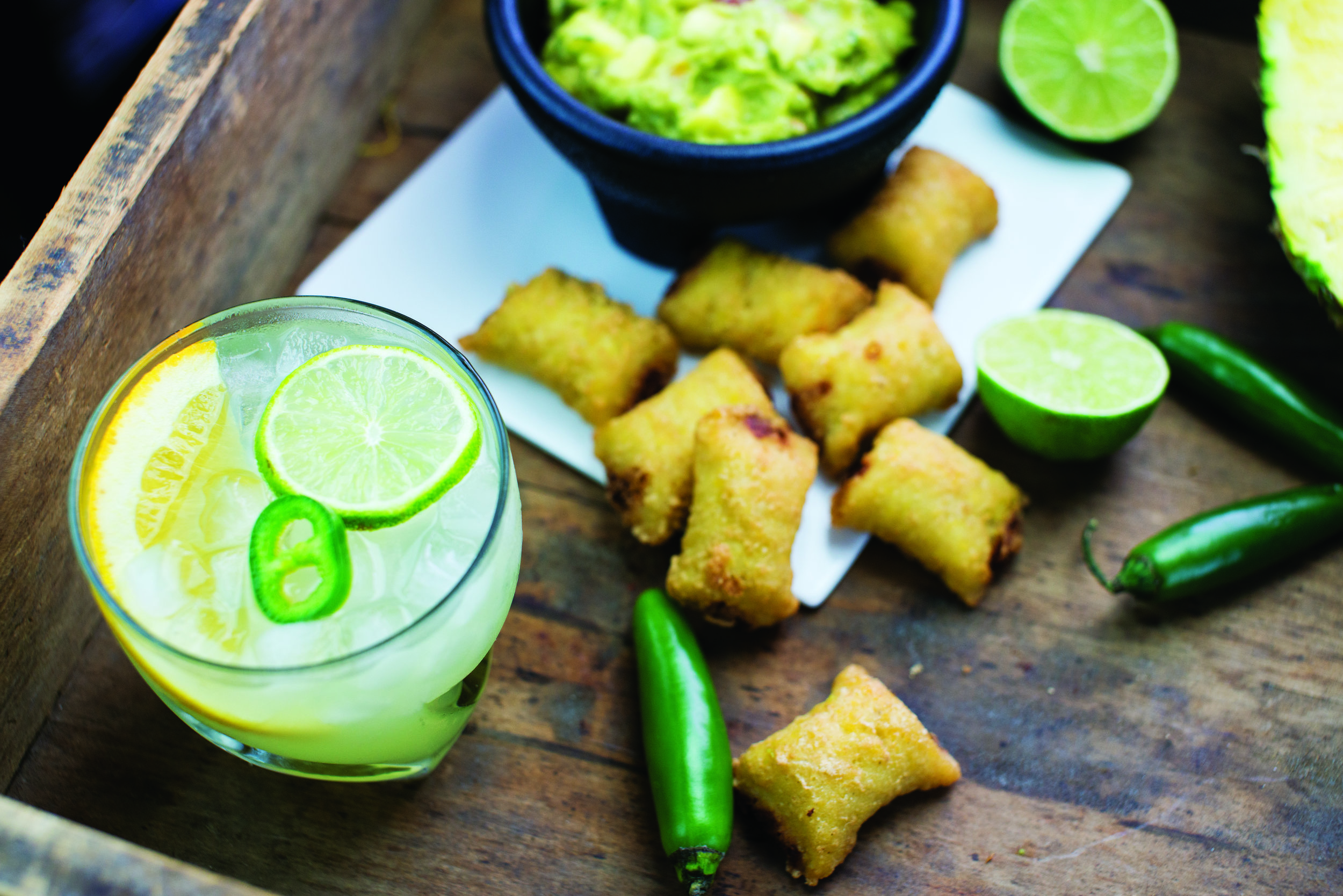 Jalapeño and Cheese Tamale Bites: Coin-Style Margarita