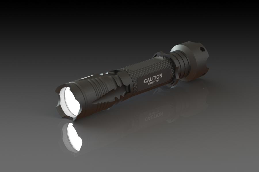 Flashlight   Custom Designed Machined Aluminum Defense Flashlight