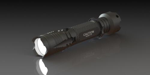 Rugged Flashlight Design