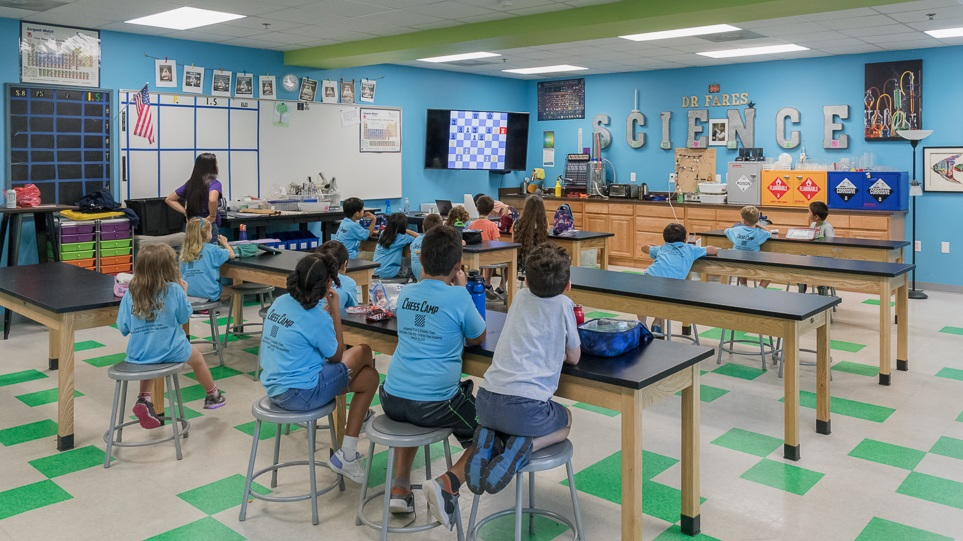 In our Intermediate program, students engage in a video lesson and class discussion regarding fundamental chess concepts each week.