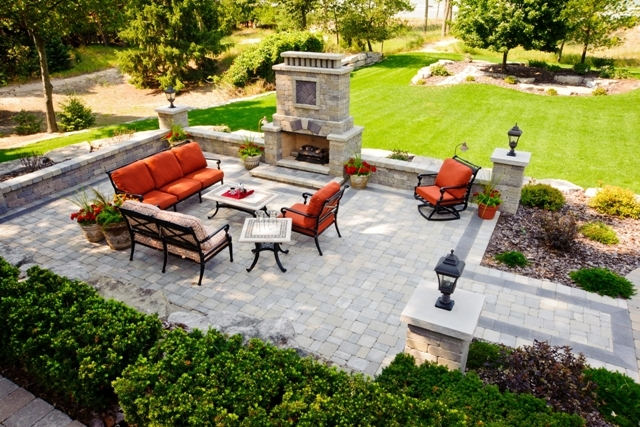 Patio with Outdoor Fireplace for Entertaining