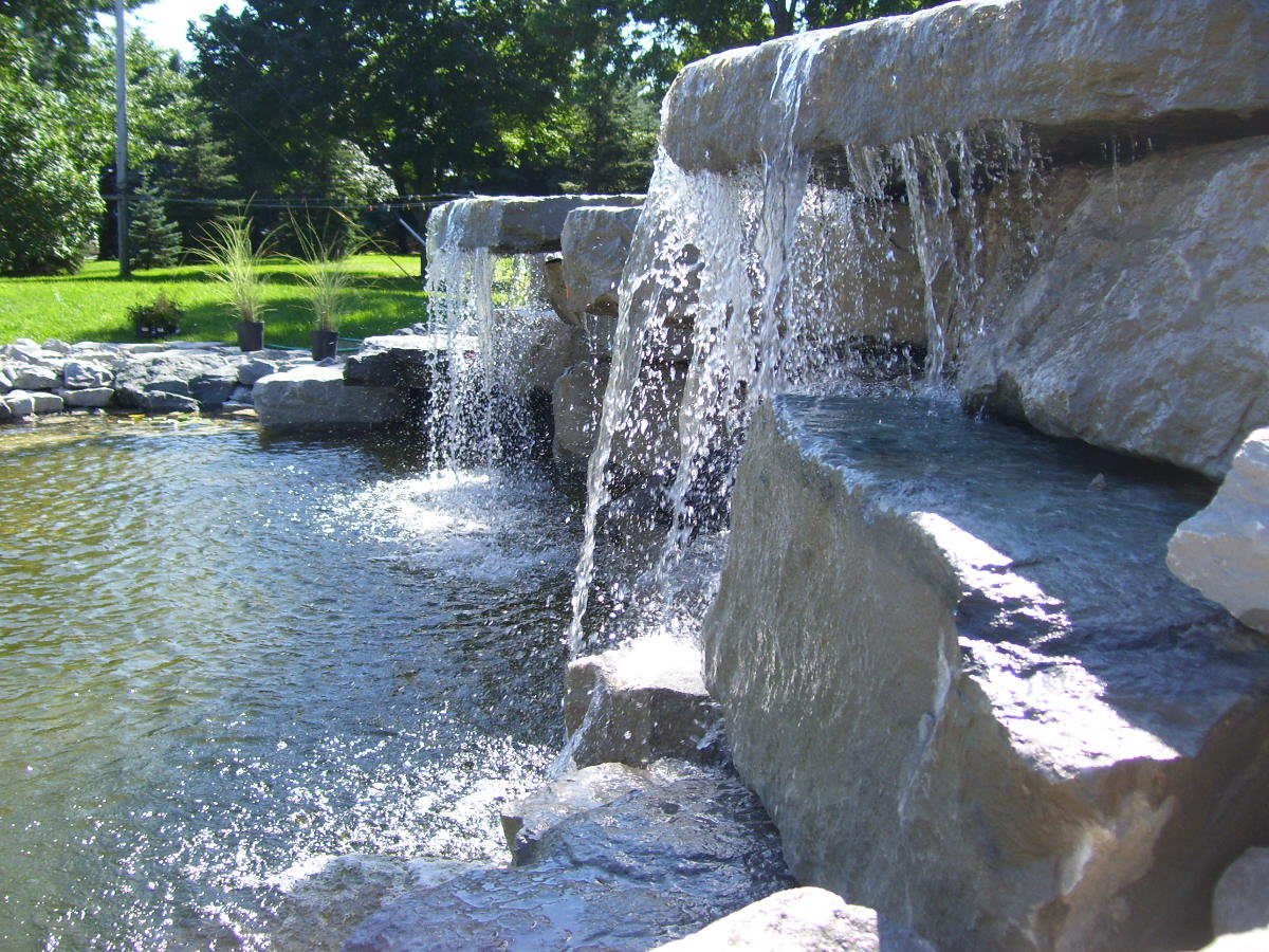 Boulder Waterfall with Pond