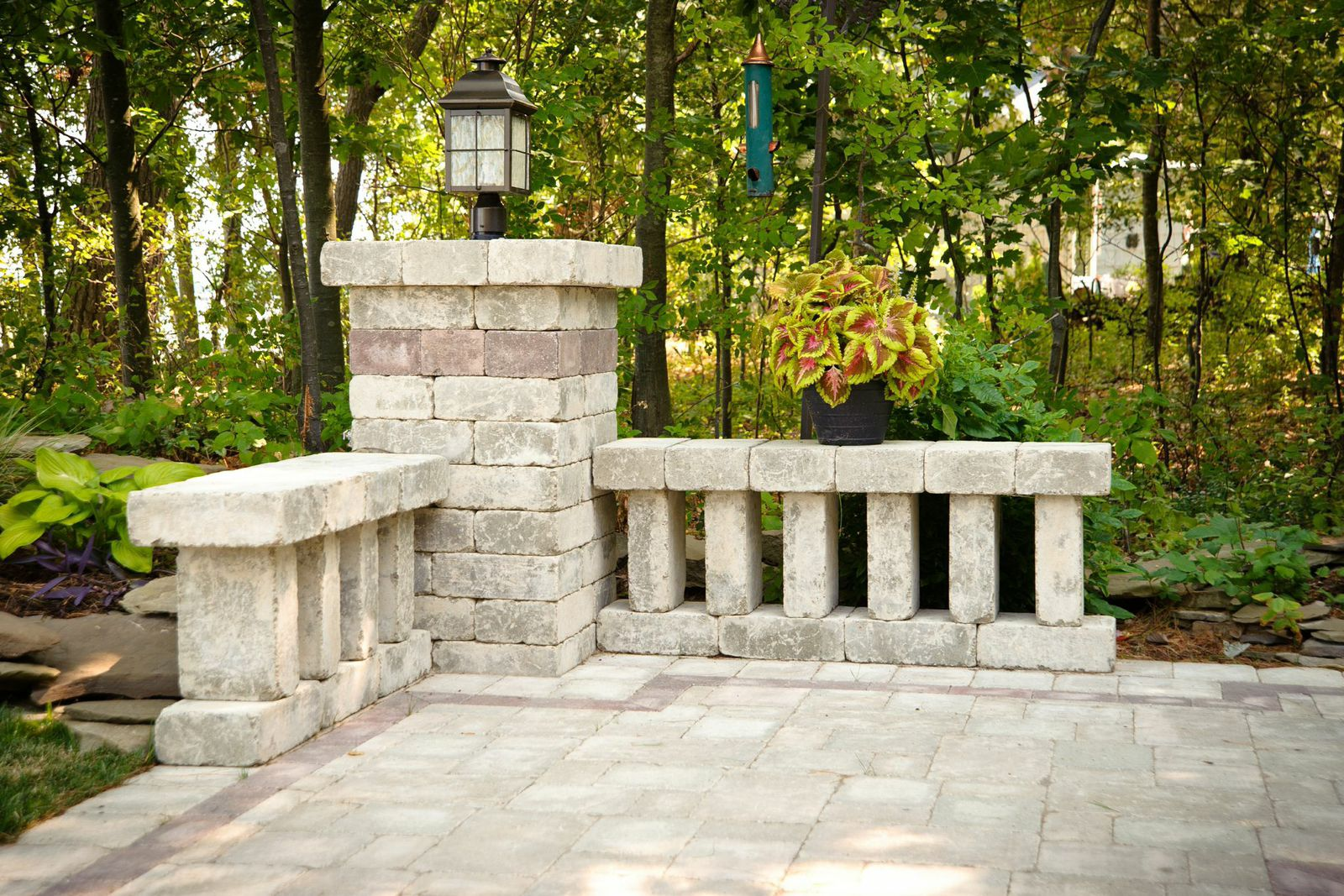 Brick Paver Accent and Outdoor Lighting