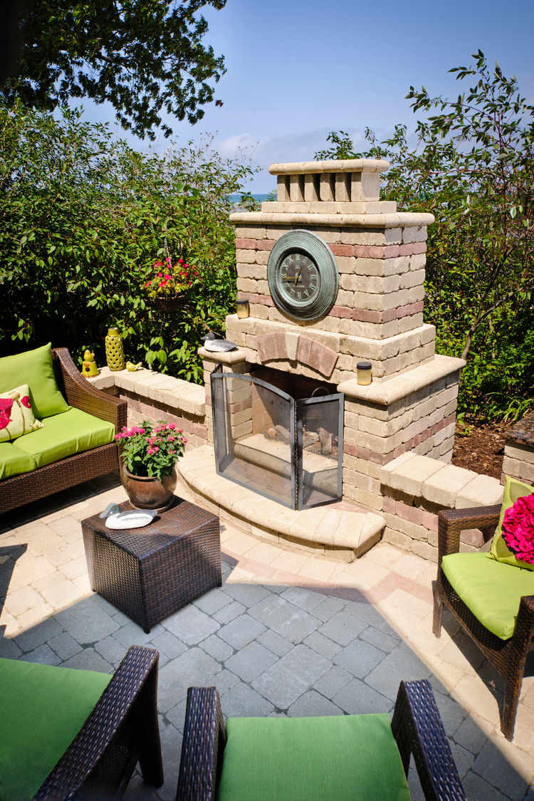 Esch Landscaping - Outdoor Living - Paver Fireplace.jpg