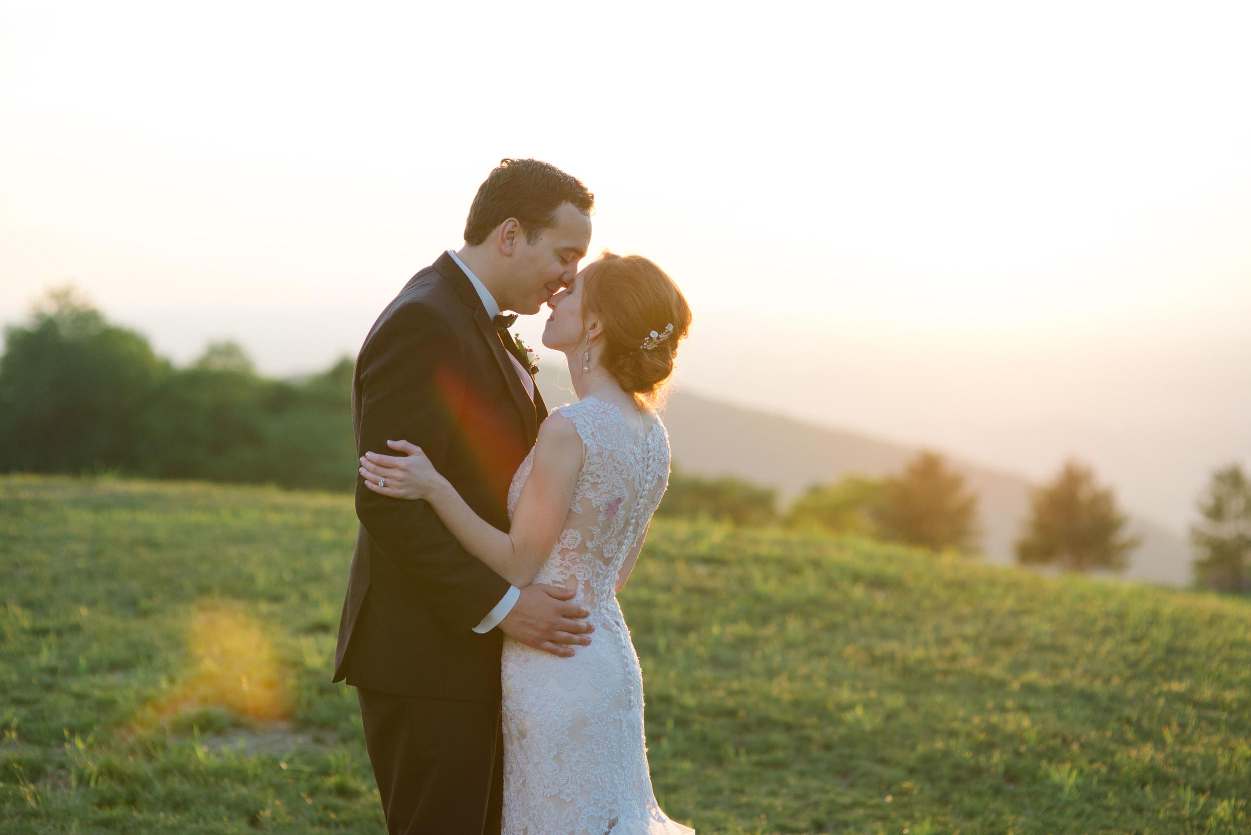 Golden Hour Bride and Groom Portrait Summit Inn Wedding Photographer